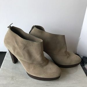 Cole Haan | Tan Cassidy Suede Ankle Booties, 8.5